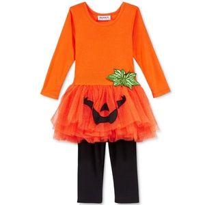 Baby Halloween Pumpkin Tutu Tunic & Leggings NWT